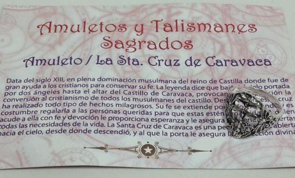 Picture of AMULETO DE PLATA ANILLO CRUZ DE CARAVACA 12MM