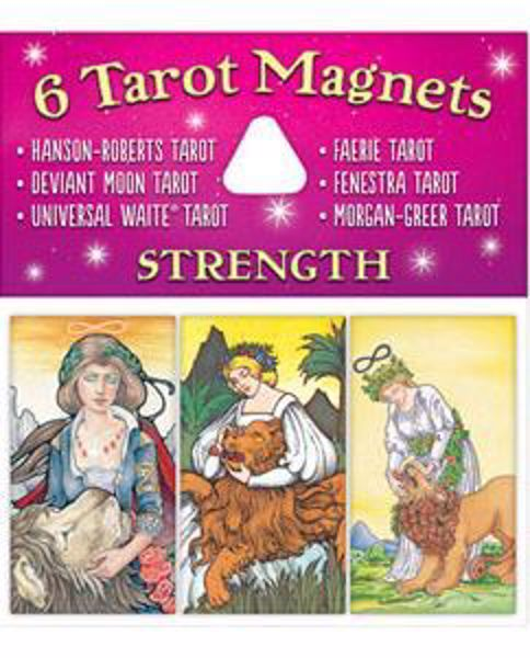 Picture of 6 TAROTS MAGNETS STRENGTH