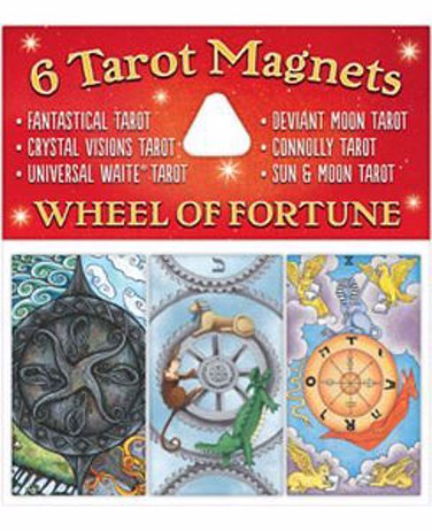 Picture of 6 TAROT MAGNETS WHEEL OF FORTUNE