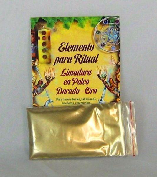 Imagen de Elemento para ritual limadura en polvo dorado