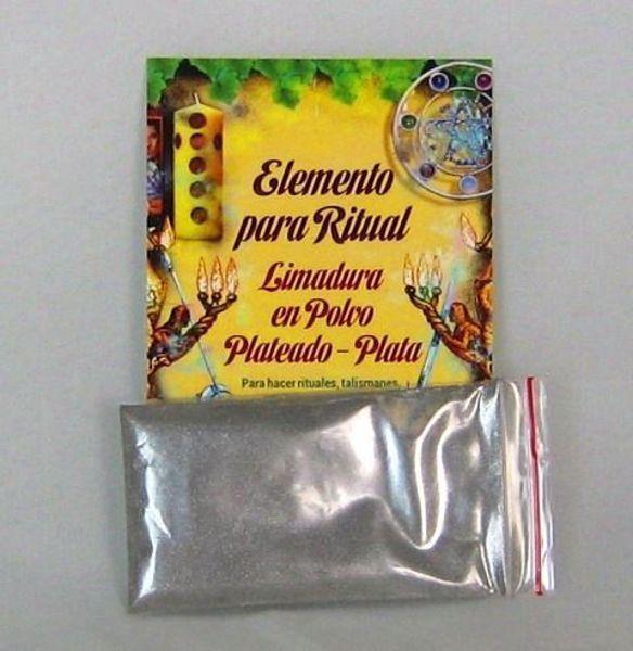 Imagen de Elemento para ritual limadura en polvo plateado