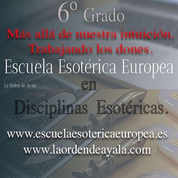 Imagen de Sexto Grado en Disciplinas Esotéricas. On line. Directo virtual.