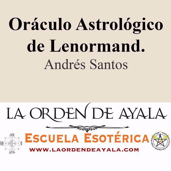 Imagen de Oráculo astrológico de Lenormand. Andrés Santos.